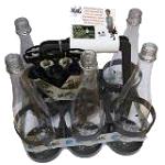 Un pack d'arrosage complet avec un panier de 6 bouteilles et 6 kits d'arrosage standard Solar-Dripper ®