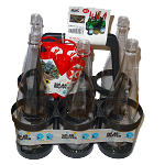Un pack d'arrosage complet avec un panier de 6 bouteilles et 6 kits d'arrosage XL Solar-Dripper ®