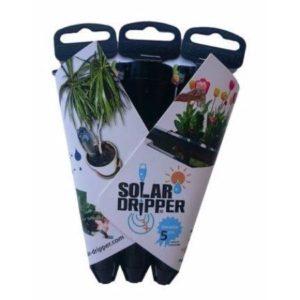 Packshot goutteur solaire Solar-Dripper arrosage automatique goutte a goutte 3 cônes noirs
